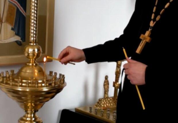У церкві, скріншот відео