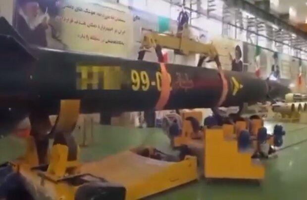 Іранська балістична ракета, скріншот відео
