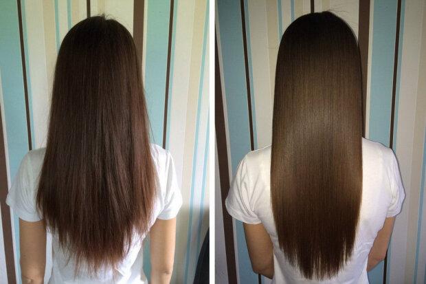 Ламінування волосся: до/після