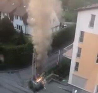 У Львові трансформатор заіскрився, як бенгальські вогні - світла не буде