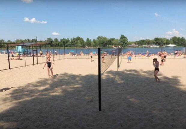 київський пляж, скріншот з відео