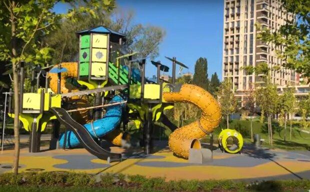 детская площадка, скриншот из видео