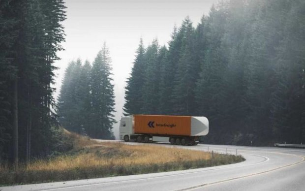 Парашют для грузовика позволил сэкономить на топливе