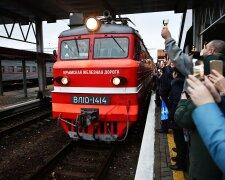Российский поезд в Симферополе