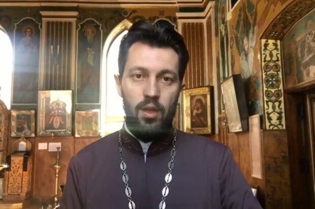 Священик ПЦУ, скрін з відео