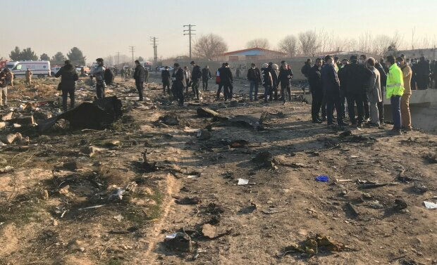 Авария самолета МАУ в Иране, фото: Reuters