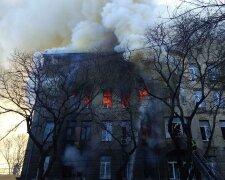 Пожар в одесском колледже, фото: Думская