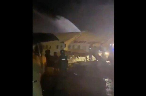 авіакатастрофа в Індії, скріншот з відео