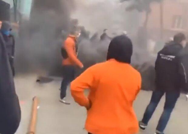 Взрыв в Киеве, фото YouTube
