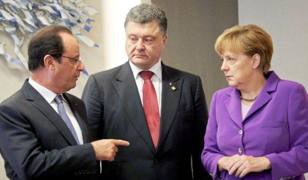 Порошенко, Меркель і Олланд 24 серпня зустрінуться у Берліні