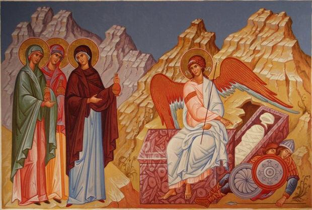 Жены-мироносицы у гроба Господня. Икона. Из открытых источников
