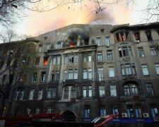 Пожар в колледже Одессы, фото - omr.gov.ua