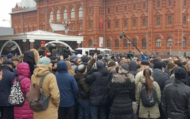 Российские копы начали задержания не дождавшись начала акции