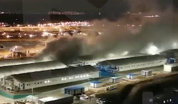 взрыв в больнице Коммунарки, скриншот с видео
