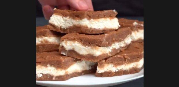 Творожный тортик, скриншот из видео