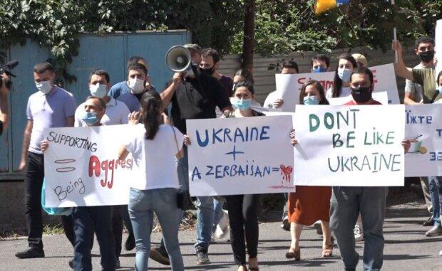 Акция у здания украинской дипмиссии в Ереване, фото: arfd.am