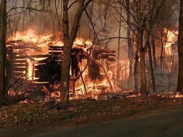 Пожары в Чернобыле, фото - Facebook