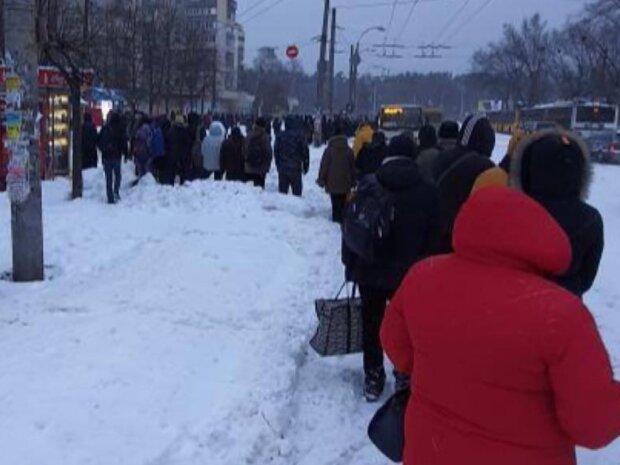 """Киевлян заставили танцевать на морозе в ожидании рогатого: """"Почему все через *опу?"""""""