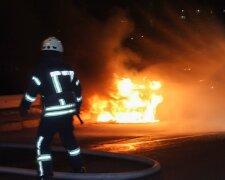 в Киеве загорелся автомобиль, фото Getty Images