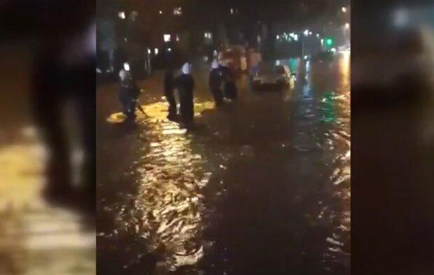 Тернополяне оказались в водной ловушке из-за ливня – спасатели вытащили из водного апокалипсиса автобус