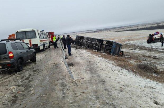 Аварія з українцями, фото: МВС РФ