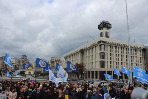 Профсоюзы устроили митинг на Майдане в Киеве: фото
