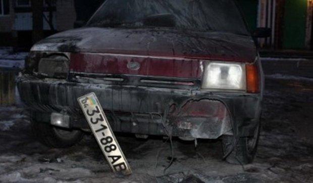 На Днепропетровщине журналисту сожгли авто
