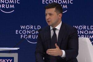 Володимир Зеленський у Давосі, скріншот відео