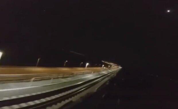 Крымский мост, кадр из видео