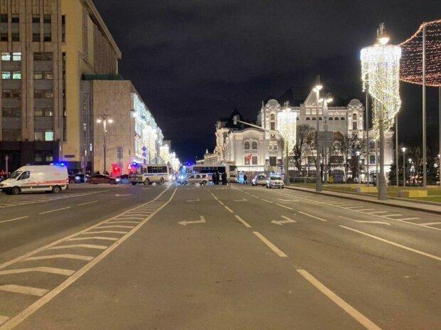 Стрельба на Лубянке в Москве, кадр из видео