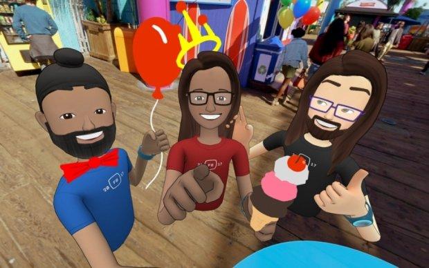 Facebook представила чат у віртуальній реальності Spaces