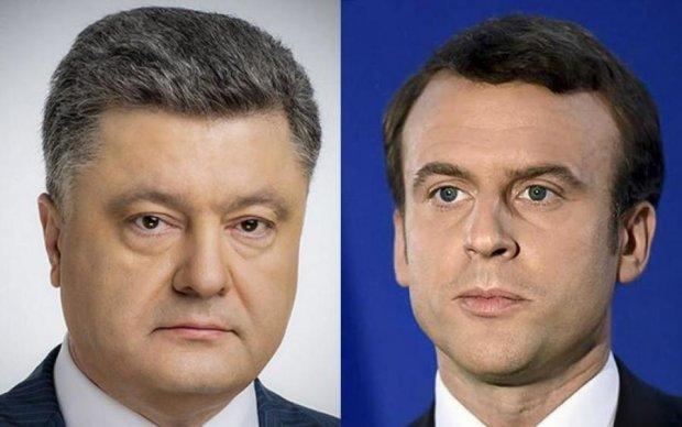 Порошенко поскаржився Макрону на бешкетування Путіна на Донбасі