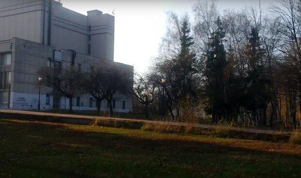 парк у Харкові, скріншот з відео