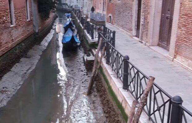 Змілілі канали у Венеції, кадр з відео