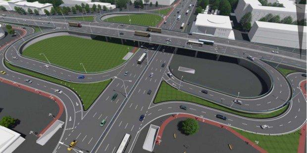 Киянам показали новий Шулявський міст: три з'їзди і кілометрова велодоріжка