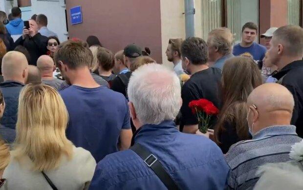 Прощання з Олександром Тарайковським, скріншот: YouTube