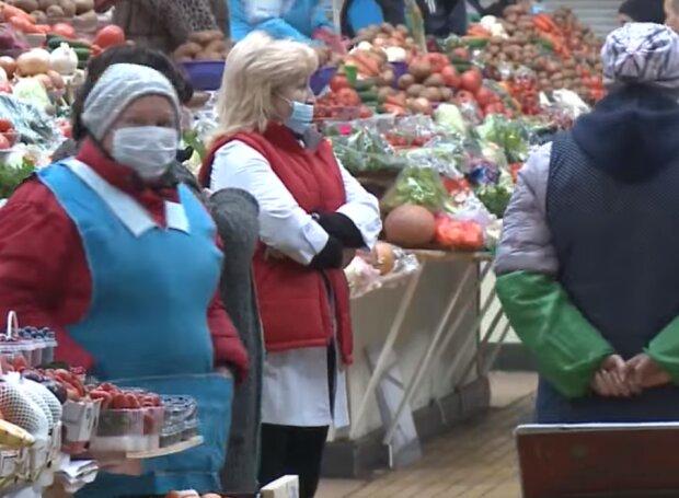 продуктовый рынок, скриншот из видео