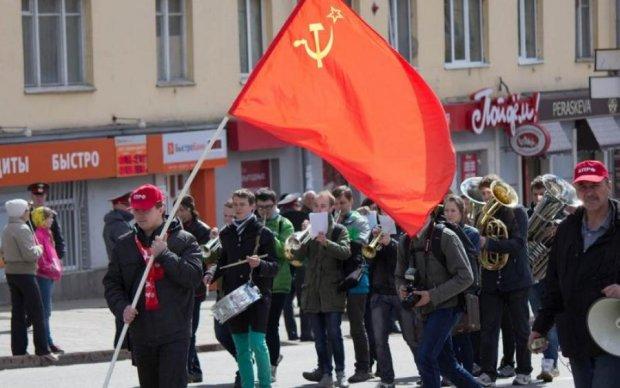 Недоноски совковые: торжественное мероприятие в Киеве прошло под знаменем коммунизма