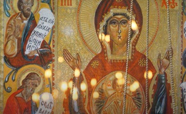 Ікона Богородиці, зображення ілюстративне, кадр з відео: YouTube