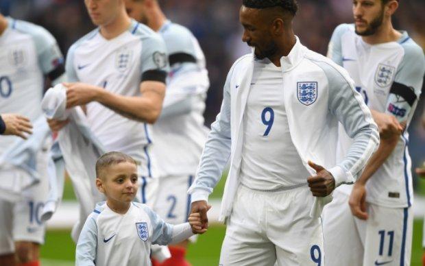 Форвард сборной Англии посвятил гол тяжело больному мальчику