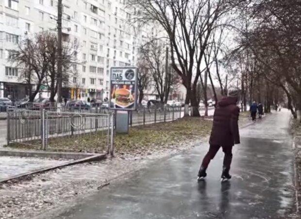 Гололедица, скриншот видео