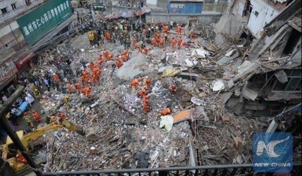 Жилые дома рухнули в Китае: есть жертвы