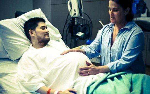 Американец попытался родить ребенка, но ему стало больно