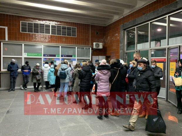 """""""Пробки"""" в метро / фото: Pavlovsky News"""