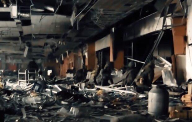 Бої за Донецький аеропорт, кадр з відео