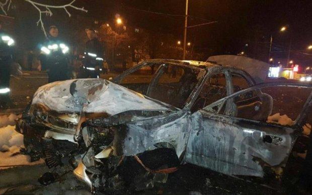 Український політик згорів заживо після ДТП