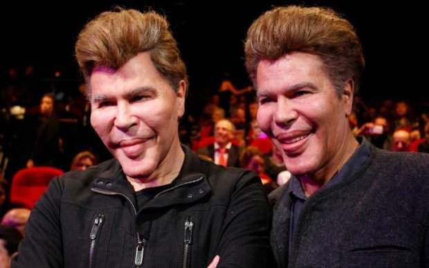 Одна на двоих: престарелые братья Богдановы появились в Каннах в компании юной модели