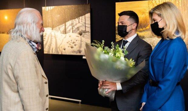 Володимир та Олена Зеленські на виставці Івана Марчука, instagram.com/olenazelenska_official