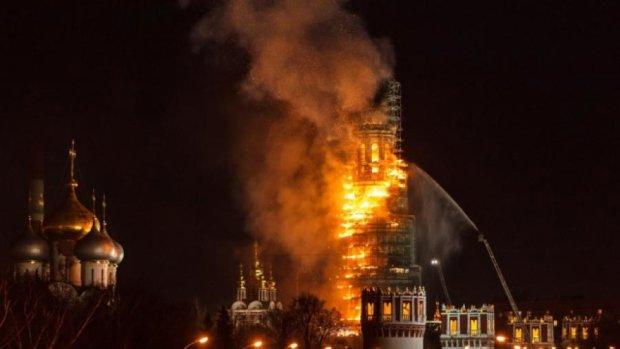 Стали відомі подробиці нічної пожежі у центрі Москви