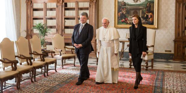 Петро і Марина Порошенки у Ватикані